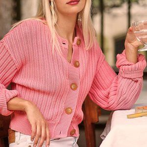 NWT Free People All Yours Cardi in Bubblegum